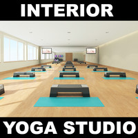3d model of yoga studio