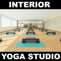 yoga studio 3d model