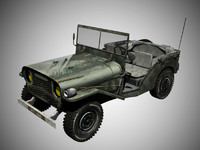 jeep delahaye 3d model