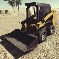 loader skid-steer skid 3d max