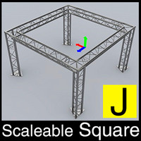 cinema4d adjustable truss square