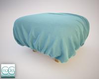 3d fabrics pouf model