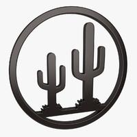 wall decor cactus 3d max