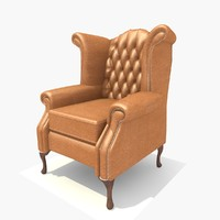seater scroll chair 3d model