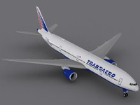 3d model of boeing 777-300 transaero airlines 777