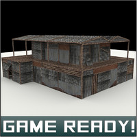 3d model slums building 6