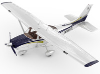 3d cessna 182 skylane model