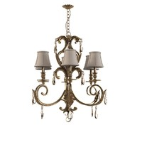 Crystorama Golden Teak Swarovski Elements Crystal Wrought Iron Chandelier
