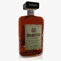 realistic disaronno italian liqueur 3ds