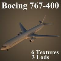 boeing 767-400 air 3d model