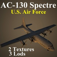 ac-130 spectre u s 3d max