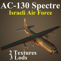 ac-130 spectre iaf 3d model