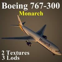 3d boeing 767-300 mon