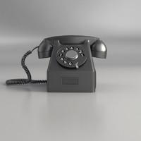 3d model phone retro