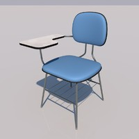 3d school chair