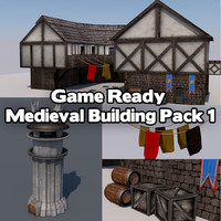 houses medieval 3d x
