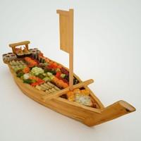 3d model photorealistic titanic sushi boat