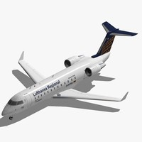 3d model bombardier canadair regional crj-200