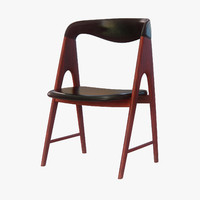 mid-century wooden chair 3d max