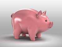 3d obj pig piggy bank