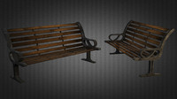 bench 01 3d 3ds
