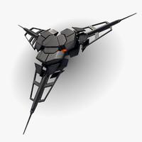 3d ufo device base model
