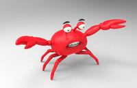 3d crab toon model
