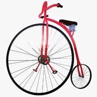 3d model penny bike vintage