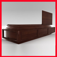 coffin box wood 3d max