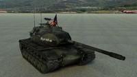 heavy tank m103a1 m103 3d model