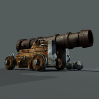 3ds max medieval cannon