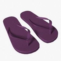 3d model flip flops beach