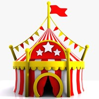 Cartoon Circus Tent