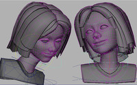 3d model cartoon girl morphs