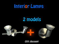 3d lamps interiors model