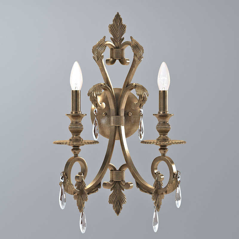 Crystorama Royal Candle Wall Sconce in Florentine Bronze classic classical cnadle0001.jpg