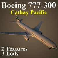 boeing 777-300 cpa 3d model
