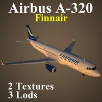airbus fin 3d x