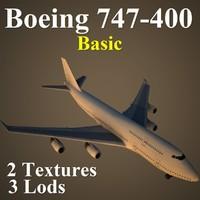 boeing 747-400 basic 3d model