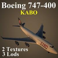 3d boeing 747-400 qnk