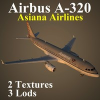 3d model airbus airlines aar