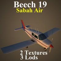 3d beech 19 sax model