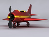3d small cartoon plane model