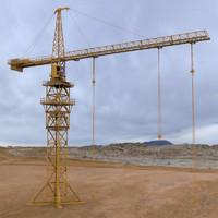 city tower cranes 3d obj