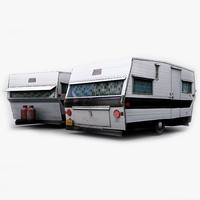 photorealistic loliner travel trailer 3d max