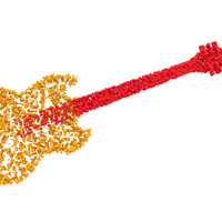 bubbly guitar 3d model