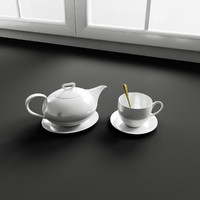 Convex Kitchen Decorations – Teapot & cup