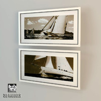eichholtz yacht prints 3d model