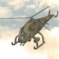 3ds max camouflage helicopter