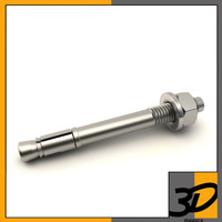 anchor bolt 3d 3ds